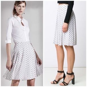 Theory Dresses & Skirts - Theory Lewdill pleated Dot skirt