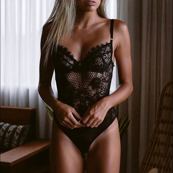 NWT💕Lacey Black Bodysuit Teddy💕Lingerie💕 Sexy 3d6cfca40