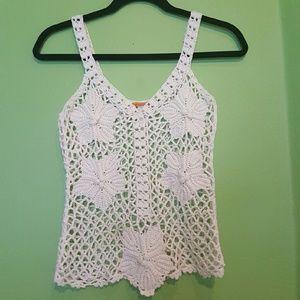 Tops - Crochet Flower Top