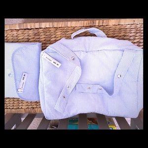 💕Zara Seersucker Diaper Bag & Changing Pad