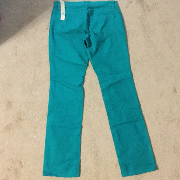 74% off Ann Taylor Pants - NEW! Ann Taylor teal corduroy pants ...