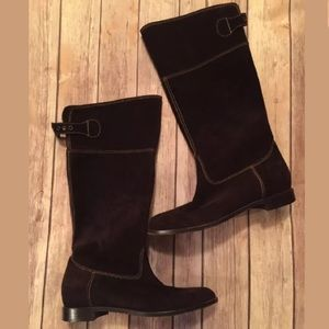 Moschino Shoes - Moschino Cheap & Chic Brown Suede Riding Boots