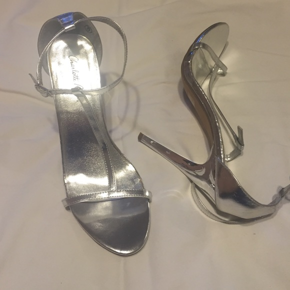 d9a318b51f9 Charlotte Russe silver heels