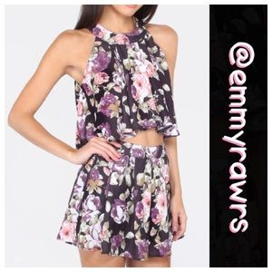 🆕 Just in • Purple Floral 2 piece Set