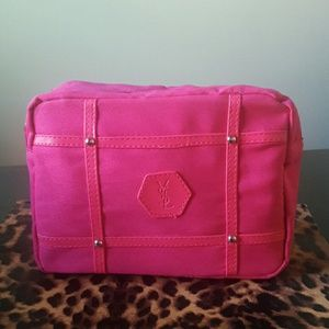 YSL Hot Pink Makeup bag Pouch Case