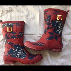 Joules Shoes - Joules Floral Printed Rain Boots