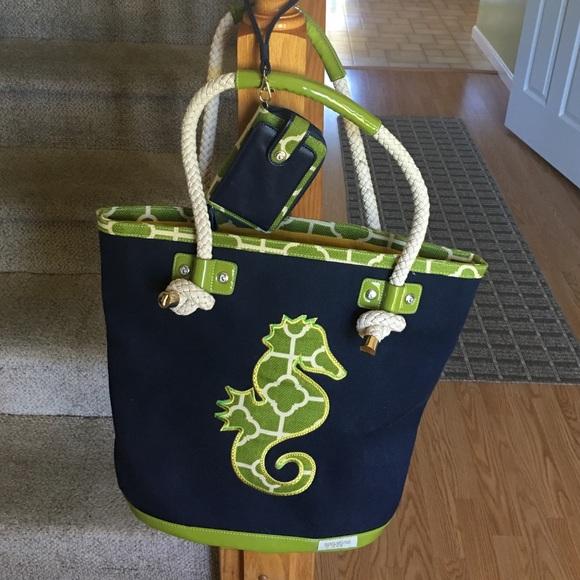 65% off Spartina Handbags - Spartina seahorse beach bag and ...