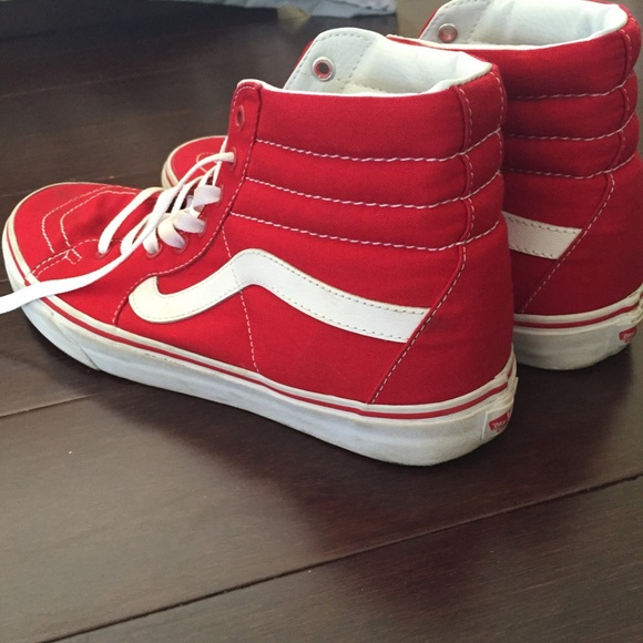 Buy Shoes Vans red high top picture trends
