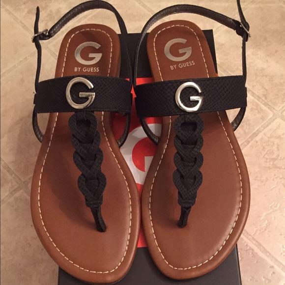 Guess Shoes | Guess Black Thong Flat