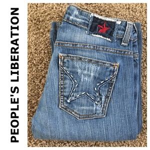 People's Liberation Bella boot cut jean in size 25