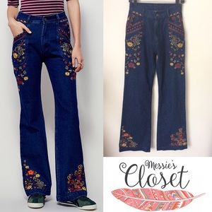 Spell & The Gypsy Collective Denim - SPELL Wanderlust Embroidered Flare Jeans