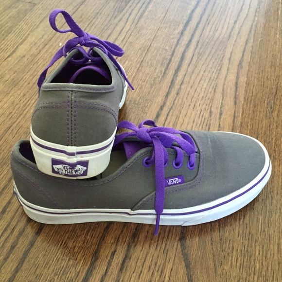 70d0517857 Purple and Grey Classic Vans. M 57bc7d474e95a3d909005a2e. Other Shoes ...