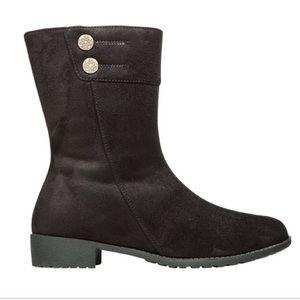 Propet Shoes - Propét Scotia Black Velour Boots