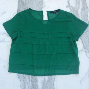 Green Sheer F21 Top