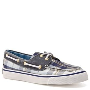 Sperry Shoes - Sperry Biscayne Plaid Boat Shoe