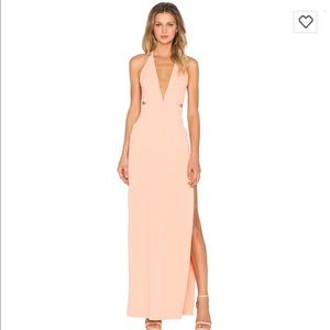 Solace London sexy maxi plunge cut out dress 4