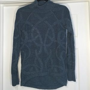 Simply Vera cotton knit teal sweater