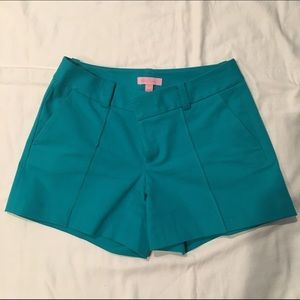 Lilly Pulitzer Pants - Lilly Pulitzer teal dressy shorts