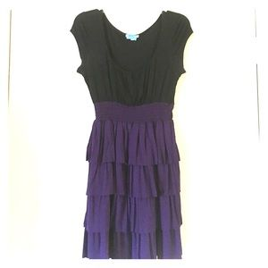 Velvet Torch Dresses & Skirts - Black and purple tiered dress.