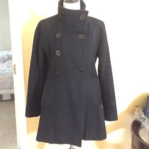 Marc New York black pea coat sz 10