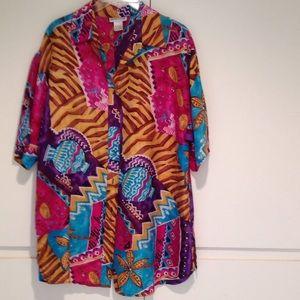 Dresses & Skirts - Wild & crazy print blouse