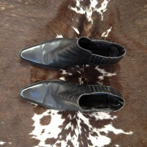 8dbc3e47428d Matisse Shoes | Black Leather Western Ankle Booties 75 | Poshmark