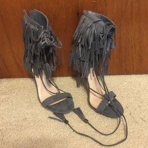 Charlotte Russe fringe heels