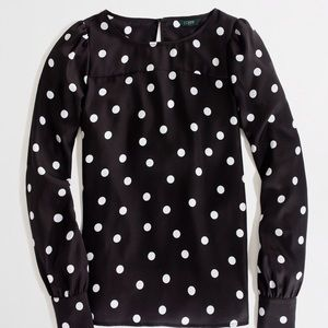 J. Crew Factory Tops - Adorable J. Crew Factory Polka Dot Blouse