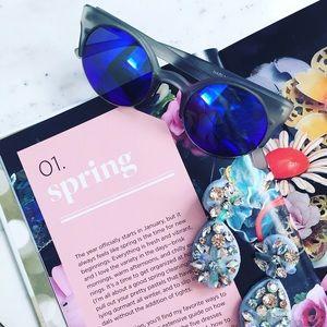 Quay Australia Accessories - NWT Quay Harlm Sunglasses in Gray & Purple