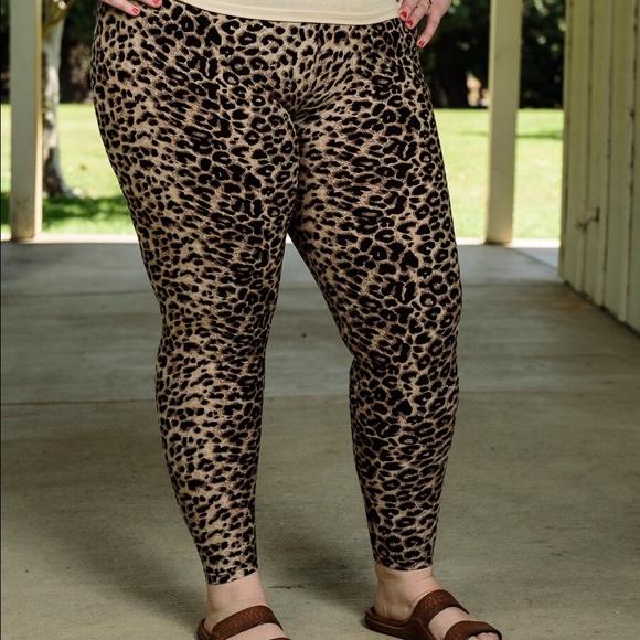 3d7af58f713 NWT Plus Size Leopard Print Leggings CUTE!!