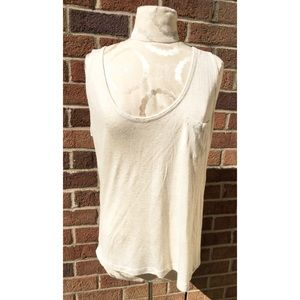 GUESS Tops - GUESS GERRIE PIECED POCKET TANK HEATHER OATMEAL L