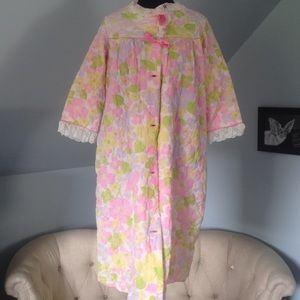 Vintage housecoat 60's burlesque