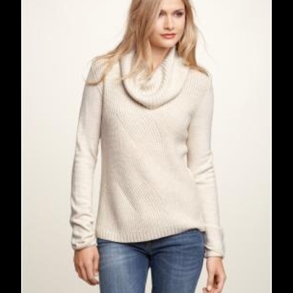 70% off Gap Sweaters - Cream Gap Cowl Neck sweater from ...
