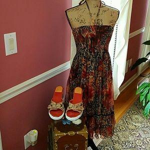 Lapis Dresses & Skirts - SASSY HALTER DRESS