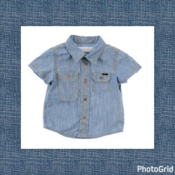 8f7d0641 Diesel Shirts & Tops | Like New Baby Boy Denim Button Up Shirt 6m ...