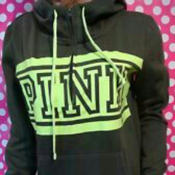 18% off PINK Victoria's Secret Sweaters - Vs pink olive green half ...