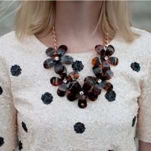 {J.Crew} Sequins Polka Dot Top