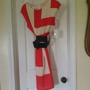 ALYX Dresses & Skirts - COLOR BLOCK RED/CREAM DRESS_10