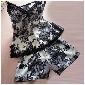 Other - Deep V-Neck Sexy Shorts Pajamas set