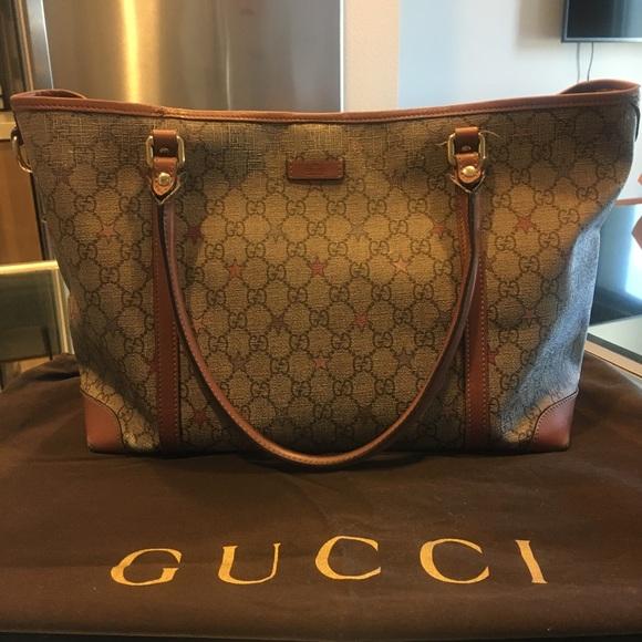90d1c30c5d6a5a Gucci Handbags - Gucci Joy supreme star tote and duster! RARE!