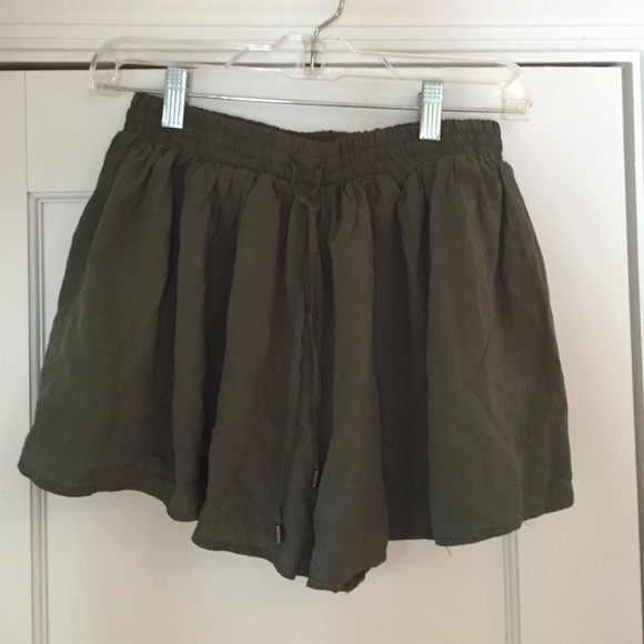 40% off Forever 21 Pants - Forever 21 Army Green Flowy shorts from ...