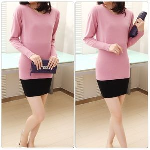 Sweaters - Cute Pink Long Sleeve Slim wear
