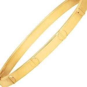 Italy Jewelry - 14kt Gold Nailhead Bangle
