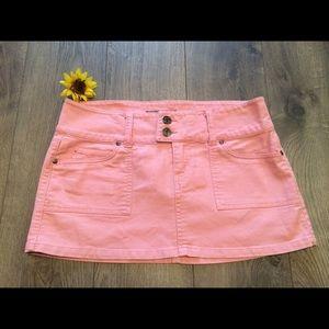 Forever 21 Dresses & Skirts - Light Pink Jeans Look, Mini Skirt