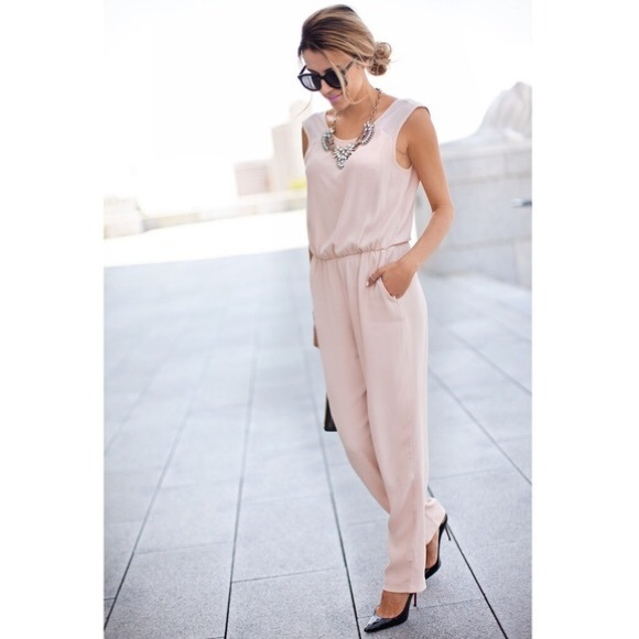2018 shoes nice cheap fashion styles NWT Zara Pale Pink Jumpsuit S NWT