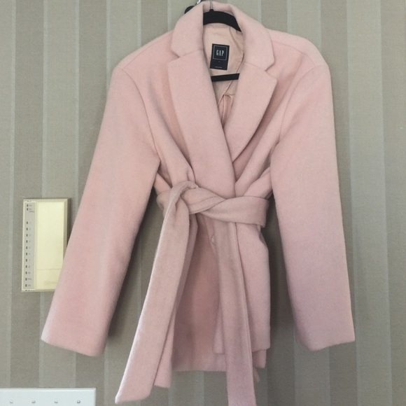 70% off Gap Jackets & Blazers - Light pink wrap coat from Lux for ...