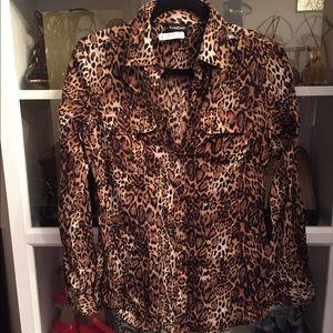 Bebe Leopard Print blouse