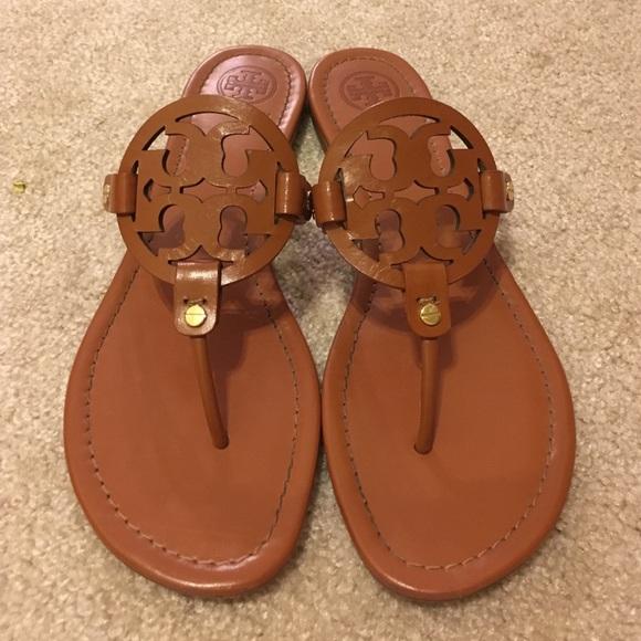 a1558ebbdf8f7 Tory Burch vintage vachetta Miller sandals Sz 11. M 57bcc7de680278c1f90034f8
