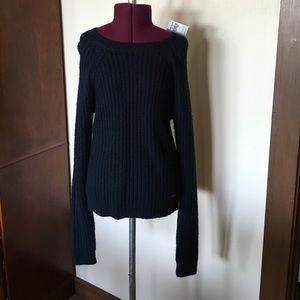 Abercrombie Blue Cable Knit Sweater NWT XS