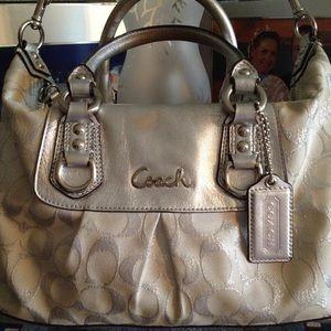 Coach Handbags - 👜💯% Authentic Coach Silver Champagne Dreams